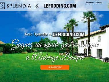 Jeux concours pour client (splendia+le fooding)