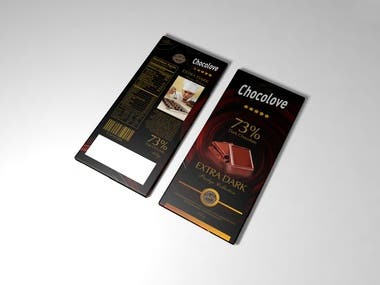 Packaging design for chocolate bar