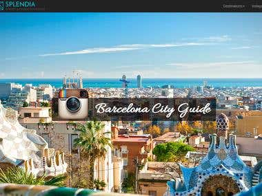 Design de site web pour concours Instagram
