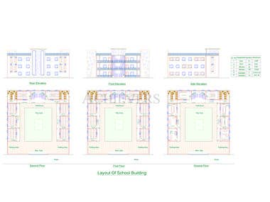 AUTOCAD WORK ON SCHOOL BUILDING PLAN LAYOUT