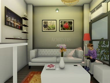 DRAWING ROOM 3D WORK