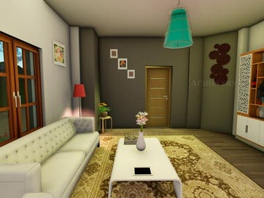 3D - DRAWING ROOM