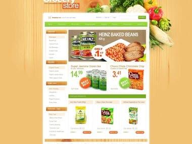 Website design Grocery store