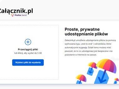 Zalacznik.pl - self-hosted Firefox Send