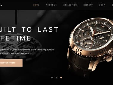 Project Category: Luxury Watch Collection