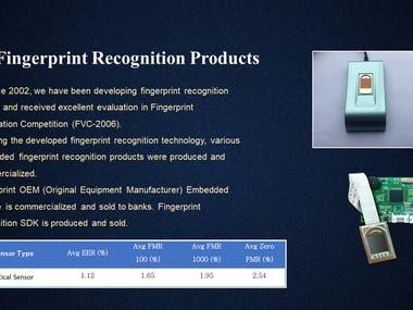 Fingerprint Recognition Products