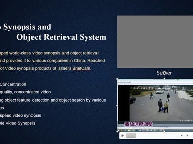 Video Synopsis and Object Retrieval System