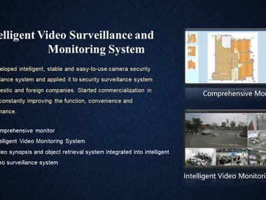 Intelligent Video Surveillance and Monitoring System