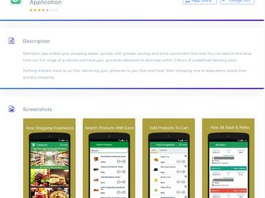 Getfresho Supermarket Application