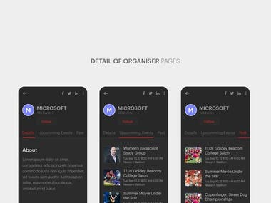 Event ticket management app( create event sell ticket buy)