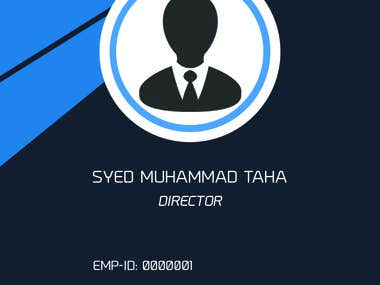 ID Card Design For An International IT Company