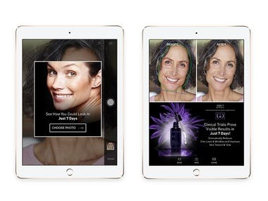 iOS Anti aging app with face recognition