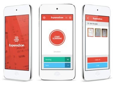 ExpenseScan - receipts scan app for iPhone