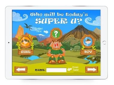 SuperU - iPad app for kids