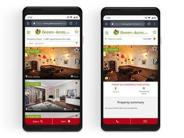 GreenAcres - website + mobile app