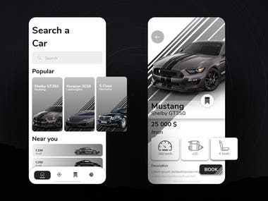 Car Rent App UI