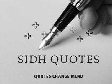 SIDH QUOTES