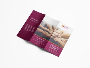 Tri-fold brochure print design