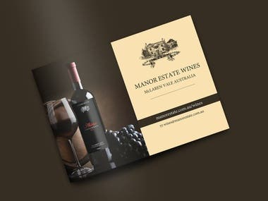 Manor Estate Wine (Brochure + Banner)