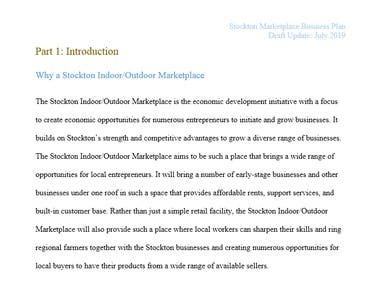 Stockton Marketplace Business Plan