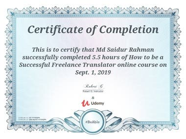 Professional Freelance of Translator