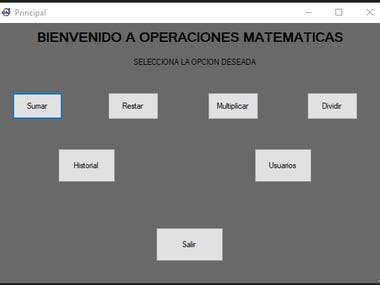 Operaciones mathematicas en C# con usuario