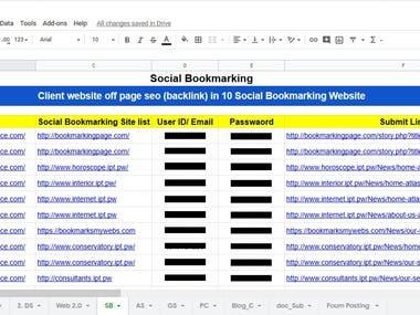 Social Bookmarking Back link
