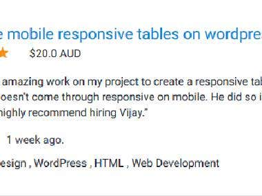 WordPress Responsive on Mobile & Desktop