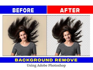 Hair masking And Background Remove