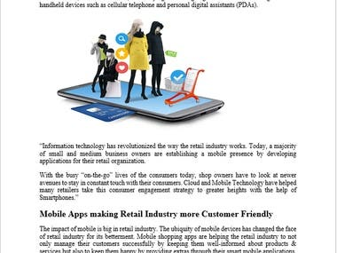 Mobile Application in Retail Sector