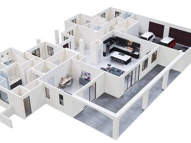 Bird Eye view Floor Plan