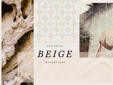 Exploring Beige mood-boards