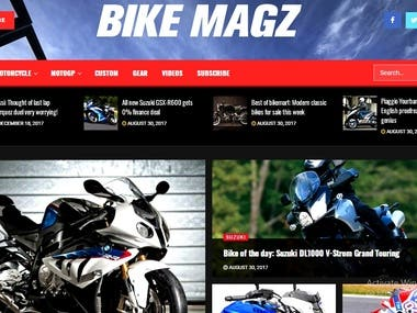 Project Category: Bike Magzine - Design+Development
