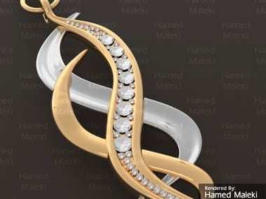 Jewelry 3D Model and rendering