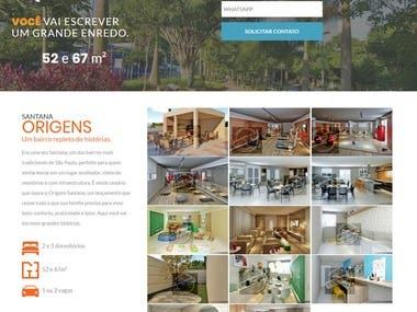 Web Design - Real Estate Hotsite for a Lead Campaign