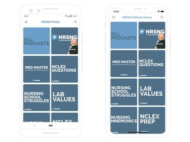 NRSNG Radio Android/iOS Apps, 2018