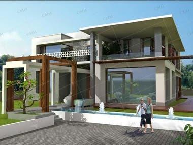 Prelim. drawings, construction drawing set and 3D views