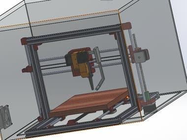 Modelo Impresora 3D en solidworks