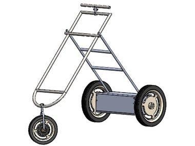 Prototipo de un carrito electrico para pasear bebes