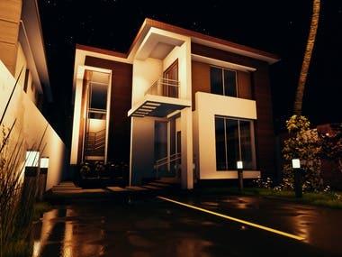 rendering 2 houses