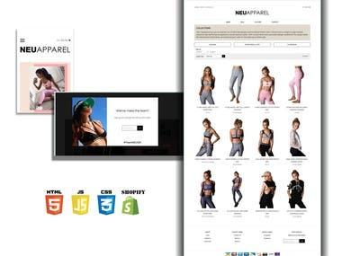 An apparel e-commerce website