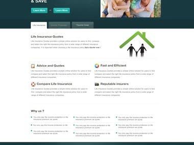 PSD website Mockup