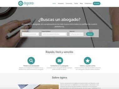 Desarrollo portal de abogados