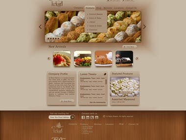 Albaba Sweets Website Layout Design (2013)