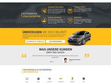 Autosam24.ch Website Layout Design