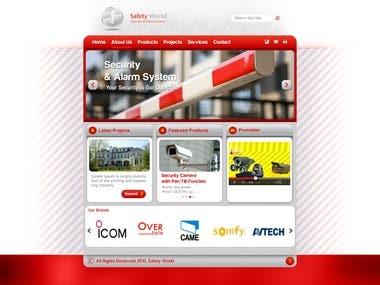 Safety World Website Layout Design