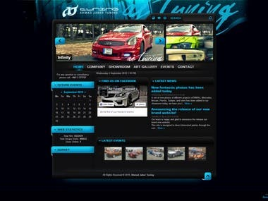 AJ Tuning Website Layout Design (2012)