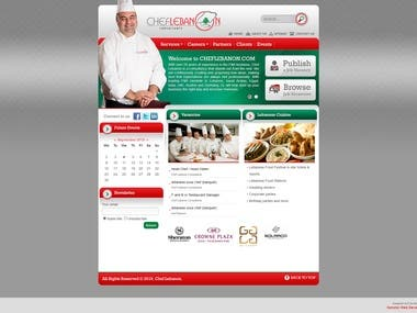 Cheflebanon.com Website Layout Design (2012)