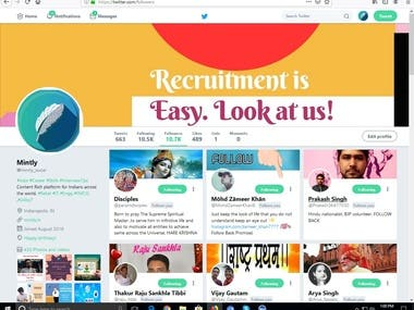 Targeted twitter marketing