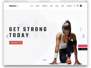 Fitness Web App (ReactJS)